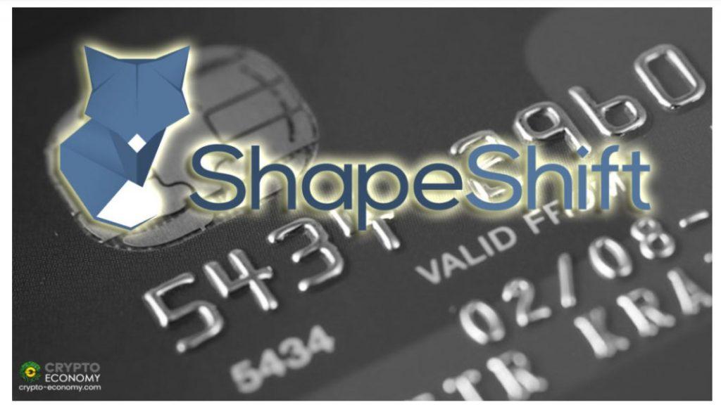 ShapeShiftは、デビットカードを使用して米国での暗号購入を可能にします