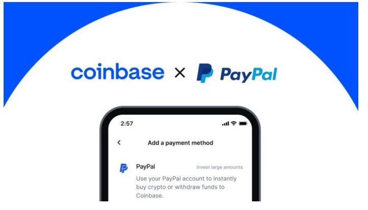 Coinbaseにより、米国のユーザーはPayPalで暗号を購入できます