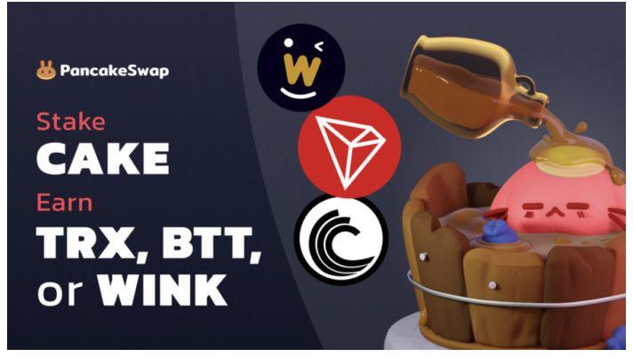 PancakeSwapは、TRON、WINkLink、およびBitTorrentをシロッププールに追加します