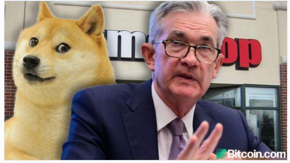 連邦準備制度理事会のジェローム・パウエルは、ドージコインとGamestopの誇大宣伝が「株式市場の泡」を強調していると述べています
